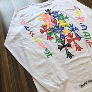 Chrome Hearts - 新作レア クロムハーツ マルチカラー バッククロス ロンT Tシャツ サイズM