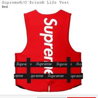 シュプリーム(Supreme)のsupreme O Brien Life Vest ライフ ベスト S レッド(その他)