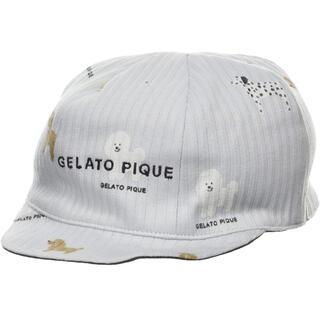 ジェラートピケ(gelato pique)のジェラート ピケ DOG柄babyキャップ(帽子)