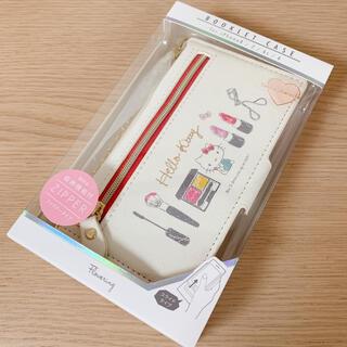 ハローキティ - キティ ファスナーポケット チェーン 手帳型 スマホケース iPhone