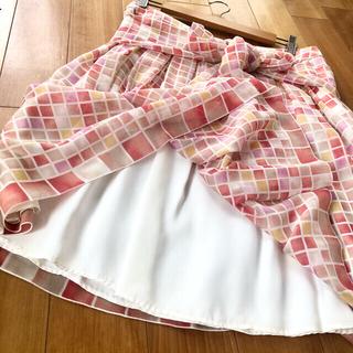ハロッズ(Harrods)のハロッズ Harrods フレア スカート  LLサイズ(ひざ丈スカート)