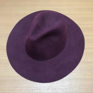 シマムラ(しまむら)の【送料無料】しまむら レディース ハット 帽子 ワインレッド つば広帽子(ハット)