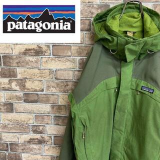 ●パタゴニア● フルジップ フード取り外し ポリエステルジャケット グリーン