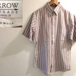 アロー(ARROW)の★ARROW/アロー 半袖OXフォードBDシャツ USA製 80s★(シャツ)