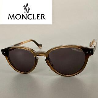 MONCLER - MONCLER モンクレール ブラウン サングラス ボストン オーバル メタル
