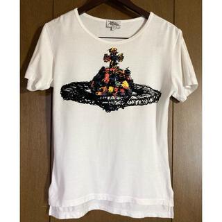 ヴィヴィアンウエストウッド(Vivienne Westwood)のヴィヴィアンウエストウッドマン ビッグオーブT 白 44  ORB(Tシャツ/カットソー(半袖/袖なし))