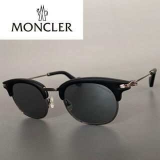 MONCLER - モンクレール マットブラック ミラーレンズ サングラス ボストン Leon