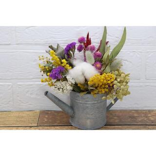 ミモザとコットンフラワーの花材セット(4)(ドライフラワー)