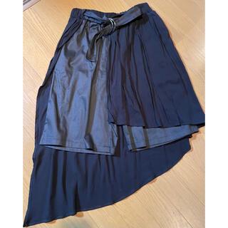 antiqua - アンティカアシンメトリースカート付きパンツ