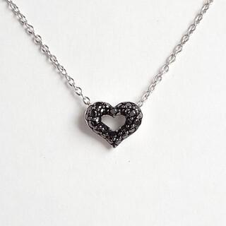 PonteVecchio - ポンテヴェキオ ネックレス ブラックダイヤモンド K18WG ハート 極美品
