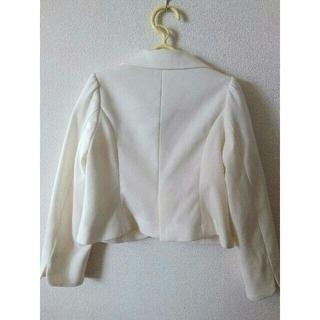 ジーユー(GU)のセレモニー 女の子 ジャケット 白 オフホワイト(ジャケット/上着)