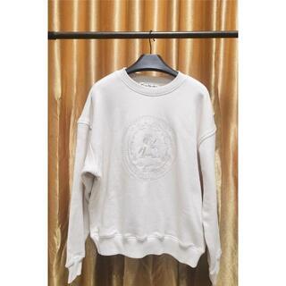 ACNE STUDIOS オフホワイト オーバーサイズ ロゴ スウェットシャツ(トレーナー/スウェット)