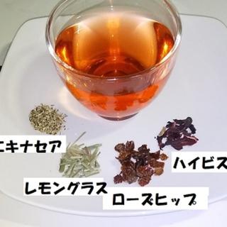 """""""ローズヒップ&ハイビスカス""""ブレンドハーブティー(約5回分)(茶)"""