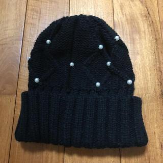 ジーユー(GU)のジーユー   パール付きニット帽(ニット帽/ビーニー)