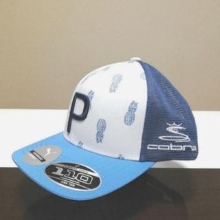 プーマ(PUMA)のUSプーマコブラ2020夏新作限定品 P-Trucker CAPブルー/ホワイト(キャップ)