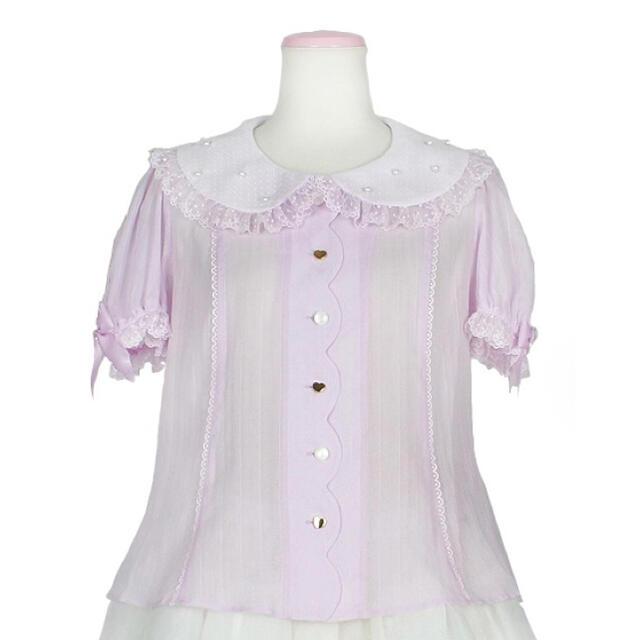 Angelic Pretty(アンジェリックプリティー)のAiryスカラップブラウス レディースのトップス(シャツ/ブラウス(半袖/袖なし))の商品写真