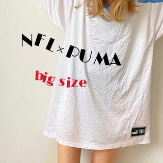 プーマ(PUMA)のU.S.A製 NFL×PUMA テネシータイタンズ ゲームシャツ  XL 白(アメリカンフットボール)