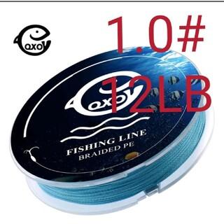 QXO高強度4本編みPEライン100mブルー1.0#12LBコスパ最強(釣り糸/ライン)