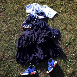 エンフォルド(ENFOLD)のnagonstans ナゴンスタンス スカート ネイビー 36(ロングスカート)
