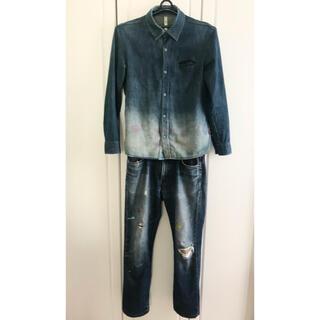 グラム(glamb)のデニムシャツ パンツ セット Indigo glamb EDWIN グラム(デニム/ジーンズ)