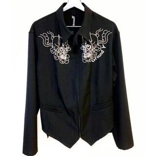 ヨウジヤマモト(Yohji Yamamoto)のGROUND Y  スカル刺繍 ジャケット(ブルゾン)