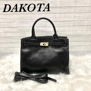ダコタ(Dakota)の【極美品】DAKOTA ダコタ オーリオ2 2way レザー 黒(トートバッグ)
