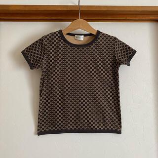 セリーヌ(celine)のセリーヌ キッズ 110 Tシャツ トップス マカダム ロゴ ブラウン(Tシャツ/カットソー)