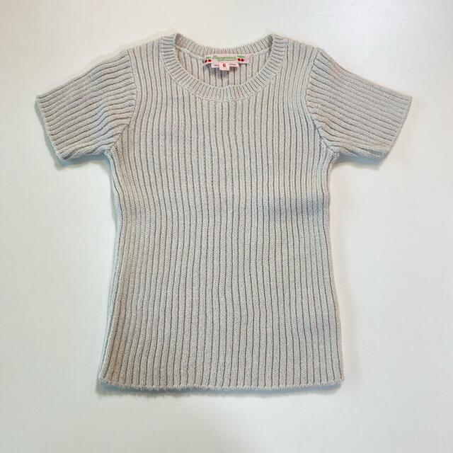 Bonpoint(ボンポワン)のボンポワン ニット Tシャツ キッズ/ベビー/マタニティのキッズ服女の子用(90cm~)(Tシャツ/カットソー)の商品写真