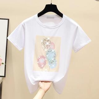 送料込み!レディース 半袖 MTシャツ ゆったり 韓国風 ビ 夏快適 (Tシャツ(半袖/袖なし))