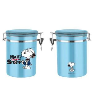 台湾セブンイレブン限定 スヌーピー 304ステンレス 食品保存容器 (ブルー)(その他)
