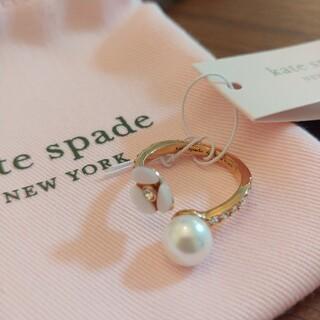 ケイトスペードニューヨーク(kate spade new york)のケイトスペード ディスコパンジー リング 指輪 お花 パール(リング(指輪))