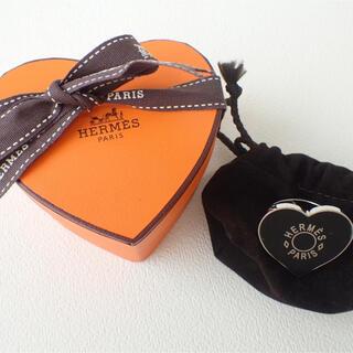 Hermes - HERMES エルメス バレンタインスカーフリングブラック黒