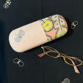 mina perhonen - ⑨ ミナペルホネン  メガネケース ハンドメイド  刺繍ロゴ入り