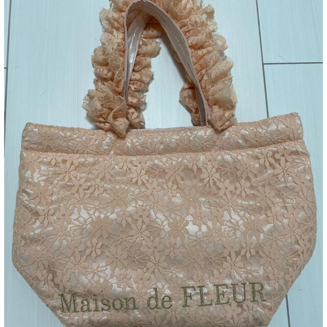 Maison de FLEUR(メゾンドフルール)の【Maison de FLEUR】フリルトートバッグ レディースのバッグ(トートバッグ)の商品写真