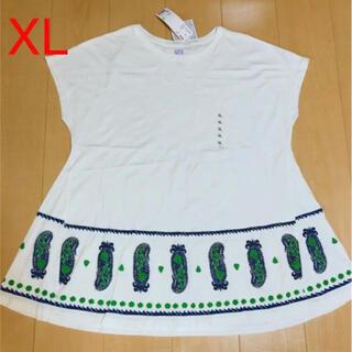 アナスイ(ANNA SUI)の新品未使用)ANNA SUI×UNIQLOコラボ チュニックTシャツ XL(Tシャツ(半袖/袖なし))