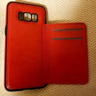 サムスン(SAMSUNG)の専用 Galaxy S8 ケース レッド カバー 赤(Androidケース)