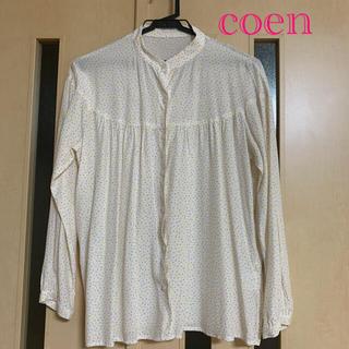 コーエン(coen)のcoen ドットギャザーブラウス オフホワイト(シャツ/ブラウス(長袖/七分))