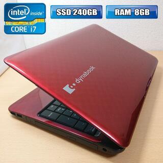 トウシバ(東芝)のハイスペック i7-4c8t / ノートPC / SSD /T451(ノートPC)