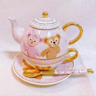 ダッフィー(ダッフィー)の香港ディズニー ダッフィー シェリーメイ ティーカップ&ソーサー ティーポット(食器)