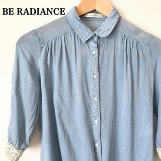ビーラディエンス(BE RADIANCE)のBE RADIANCE ビーラディエンス シャツ 七分袖 水色(シャツ/ブラウス(長袖/七分))