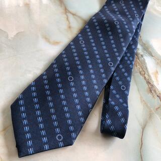 ブルガリ(BVLGARI)のブルガリ ネクタイ BVLGARI 青 紺 シルク 美品(ネクタイ)