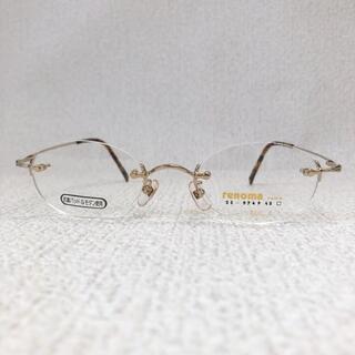 レノマ(RENOMA)の未使用 renoma ツーポイント メガネフレーム 鯖江製 金色(サングラス/メガネ)