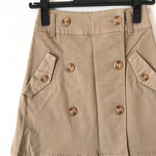 Rote Rose トレンチスカート 台形スカート ベージュ(ミニスカート)