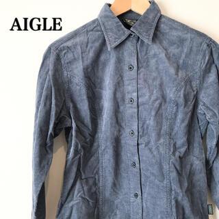 エーグル(AIGLE)の【美品】AIGLE エーグル コーデュロイシャツ 長袖(シャツ/ブラウス(長袖/七分))