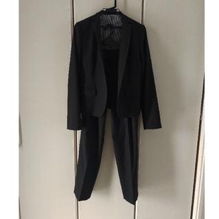 コムサイズム COMME CA ISM スーツ パンツ チャコールグレー 就活