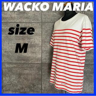 ワコマリア(WACKO MARIA)のWACKO MARIA ワコマリア 半袖 Tシャツ メンズ サイズM ボーダー柄(Tシャツ/カットソー(半袖/袖なし))