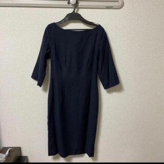イエナスローブ(IENA SLOBE)の広尾のオーダーメイド店 private robe  ワンピ ネイビー (ひざ丈ワンピース)