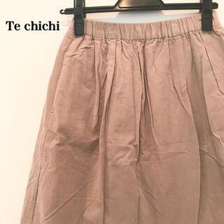 テチチ(Techichi)のTe chichi テチチ コーデュロイ スカート ベージュ(ひざ丈スカート)