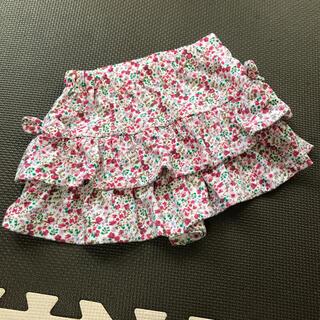 西松屋 - 花柄 フリル キュロット スカート ショートパンツ  100