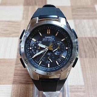超美品【CASIO/WAVECEPTOR】電波ソーラー メンズ腕時計
